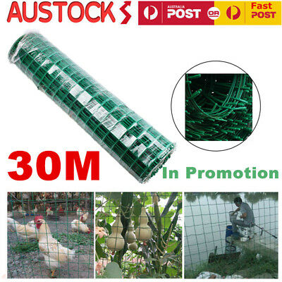 Roll Welded Wire Mesh Animal Fence Graden Pet Chicken Coop Aviary Fencing 30M