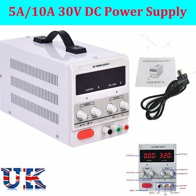 Adjustable  0-30V 0-5/10A  DC Power Supply Precision Variable Digital Lab CE