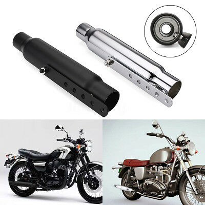 12''32cm Universal Short Motorcycle Exhaust Muffler Pipe Silencer For Cafe Racer