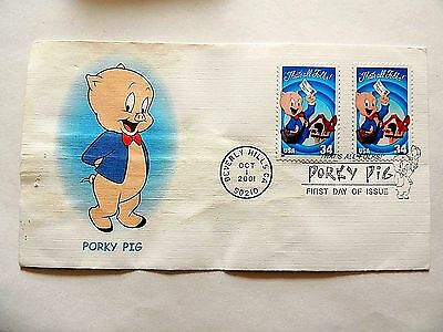 """October 1st, 2001 """"Porky Pig"""" Looney Tunes Series First Day Issue"""