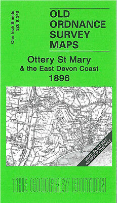 Old Ordnance Survey Map Ottery St Mary 1896 Axminster Honiton Lyme Regis Seaton