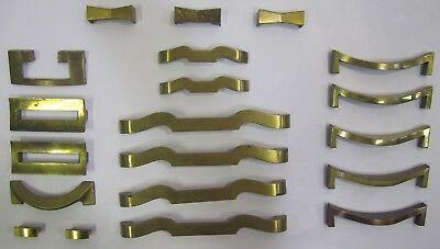 Lot of 20 Assorted Vtg MCM Brass Gold Tone Drawer Pulls For Restore Arts Crafts