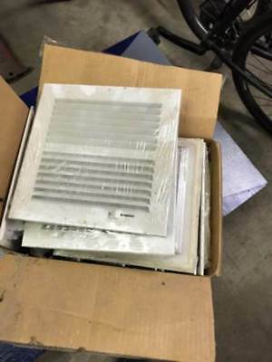 "NEW Case of 10 - 8"" x 8"" Hart and Cooley Register Grills - White"