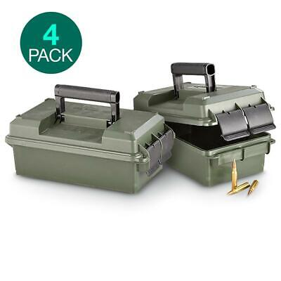 2 Pack MTM 30 Caliber Military Ammo Cans Rugged Water Resistant Storage Box Case