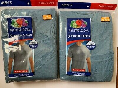 Fruit of the Loom Men's Pocket T-Shirt 5 Pack Size XL