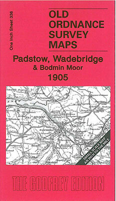 Old Ordnance Survey Map Padstow Wadebridge Bodmin Moor 1905 Camelford  St Minver