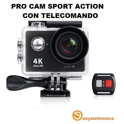 Pro Cam Sports Action Camera 4K Wifi Ultra Hd 16Mp Videocamera Telecomando Mare