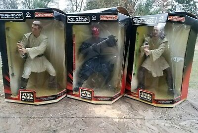 Lot of 3 Darth Maul, Obi-Wan Kenobi,  Qui-Gon Jinn Applause MEGA COLLECTIBLE
