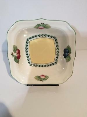 """(1) Villeroy & Boch French Garden Fleurence  8 1/4"""" Square Salad Bowl NWT"""