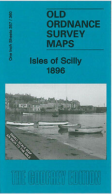 Old Ordnance Survey Map Isles Of Scilly 1896 Tresco St Agnes St Marys Tean
