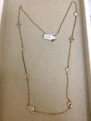 NWT Ann Taylor LOFT Simple Jewel Chain Necklace FREE SHIPPING