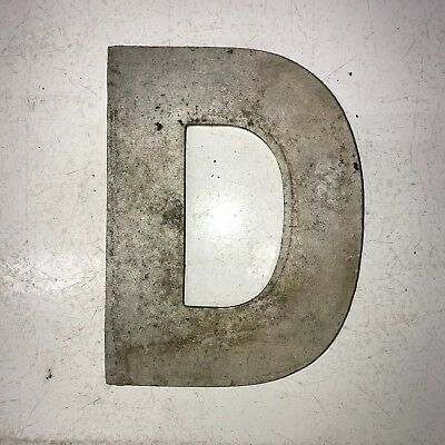 Vintage Marquee Theater Letter D Wagner Sign Service 8 Inch Antique D12