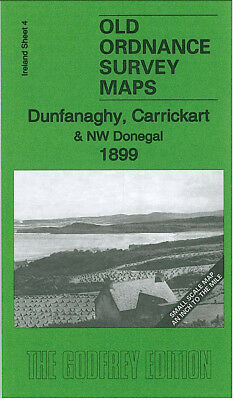 Old Ordnance Survey Map Dunfanaghy Carrickart & Nw Donegal 1899 Hornhead Tawny