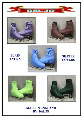 Ice Skating / Roller Skate Plain  Lycra Boot Covers 6