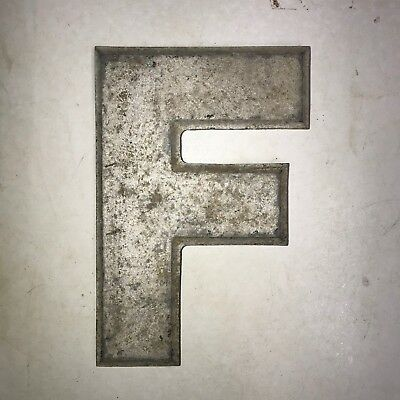 Vintage Marquee Theater Letter F Wagner Sign Service 8 Inch Antique F21