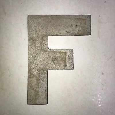 Vintage Marquee Theater Letter F Wagner Sign Service 8 Inch Antique F23
