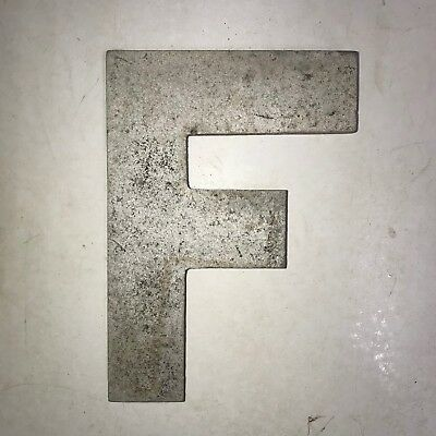 Vintage Marquee Theater Letter F Wagner Sign Service 8 Inch Antique F30
