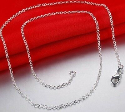 16 - 18 inches 925 Sterling Silver Belcher Rolo Chain Necklace 41cms 46cm N47 48