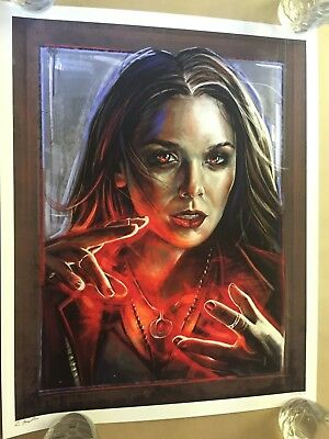 Scarlet Witch by Robert Bruno Signed & Numbered of 25 Fine Art Giclee Print Dent