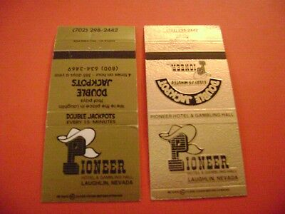 """Lot of 2 different Match covers, """"PIONEER HOTEL & GAMBLING HALL:, Laughlin, NV."""