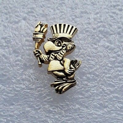 """HARD-TO-FIND!! 1984 LA Olympics LAOOC """"ALL GOLD - SAM THE EAGLE TORCH"""" Pin"""