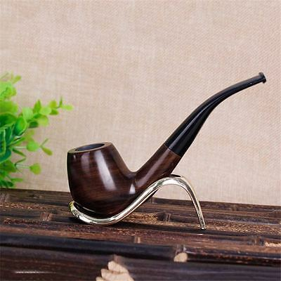 Long Wood Pipes Wooden Pipes Tobacco Smoking Ebony Pipe Smooth Hand made