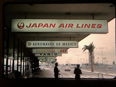 Set of 6 Japan Airlines 1962 35mm Kodachrome Slides LAX 1960's CA Airport DC-8