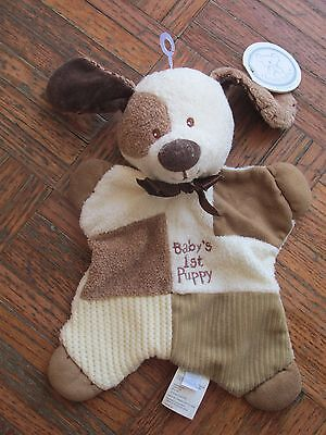 Koala Baby Puppy Dog Brown Cream Squares Security Blanket Lovey Babies R Us NWT
