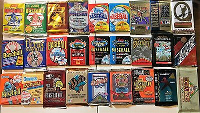 Huge Lot of 1600 Unopened Old Vintage Baseball Cards In Factory Sealed Packs