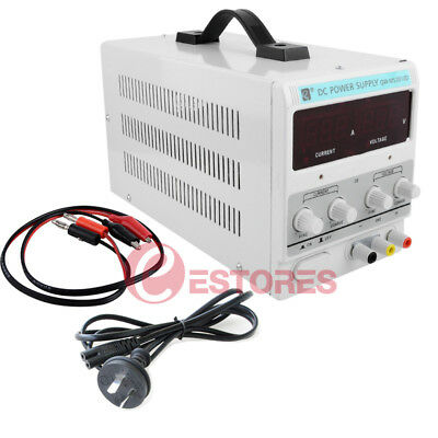 30V 10A DC Power Supply Adjustable Digital Variable Precision Lab + Charge Cable