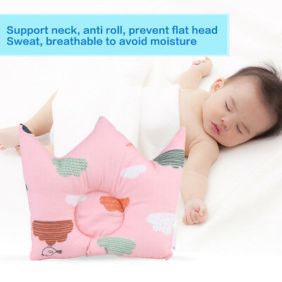 Cute Pattern Pillow Newborn Infant Baby Support Cushion Pad Prevent Flat Head