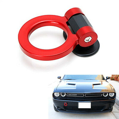 Universal DIY Car SUV Auto Bumper Red ABS Decoration Track Racing Style Tow Hook