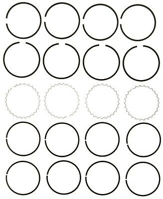 Engine Piston Ring Set Mahle 5007 060 Fits 45 58 Jeep Willys 2 2l L4
