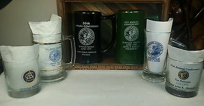 New Hampshire Association of Chiefs of Police Inc Beer Stein & Bar glass Lot 6