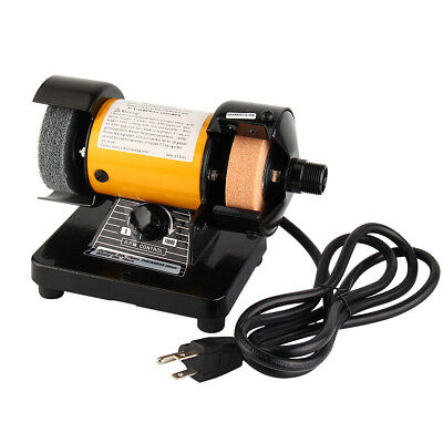"110V 3"" Mini Bench Grinder With Rotary Flexible Shaft Die Carving Set 10000RPM"
