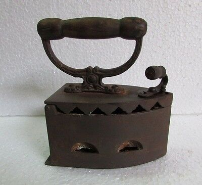 Antique Vintage old Rare Cast Iron Coal Ironing Clothes Press collectible