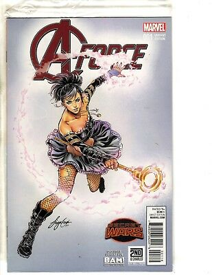 A-Force # 1 NM 1st Print Variant Cover Marvel Comic Book Books A Million 2&C MK5