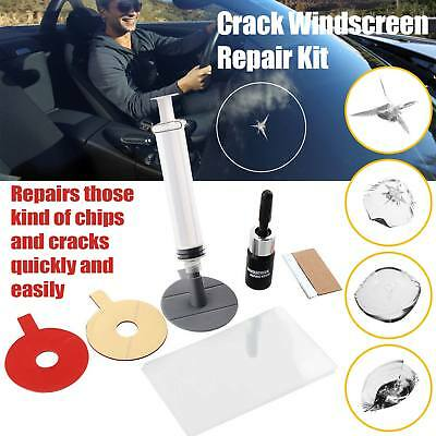 Windshield Repair  Kit Crack DIY Auto Glass Wind Screen Chips & Cracks UKSeller