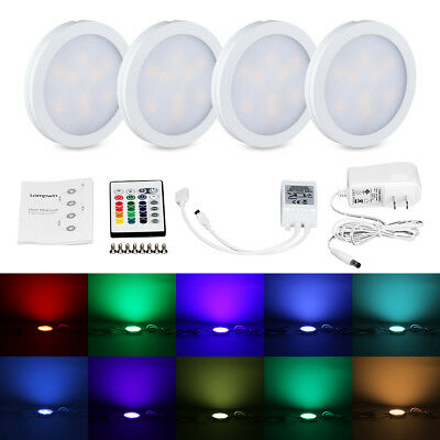 6 LED PUCK Lights w/ Remote Control plus Batteries Wireless | NO ...