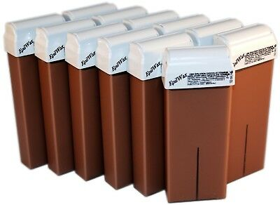 Lot De 12 Roll-On 100Ml Cire Tiède Chocolat Pour Epilation (Non Made In China)