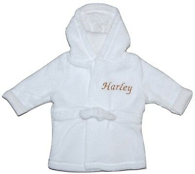 Baby Boy Girl Personalised Dressing Gown 12-24 Months Christening Shower Gift