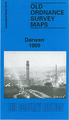 Old Ordnance Survey Map Darwen 1909 Robert Street Spring Vale Station Sough