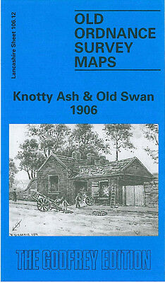 Old Ordnance Survey Map Knotty Ash Old Swan 1906 Liverpool Russian Drive Stanley