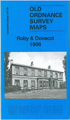 Old Ordnance Survey Map Roby Dovecot 1906 Liverpool Huyton Farm Carmel Convent