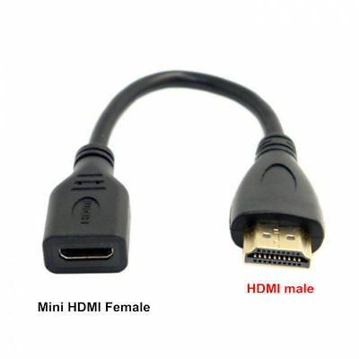 HDMI Male To Mini HDMI Female adapter Cable Convertor New High Speed