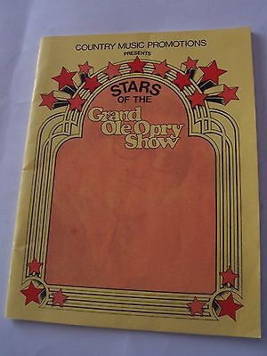 1980's Stars Of The Grand Ole Opry Show Program - Ontario, Canada
