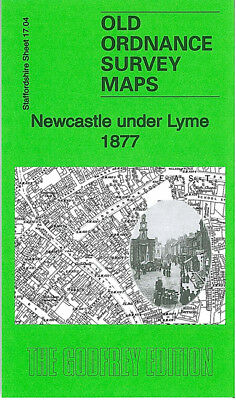 Old Ordnance Survey Map Newcastle Under Lyme 1877 Penkhull Street Guildhall