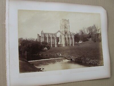 "Pettitt's Series Keswick- 11 x 7.5"" 1887- England- York Minster/ Fountains Abbey"