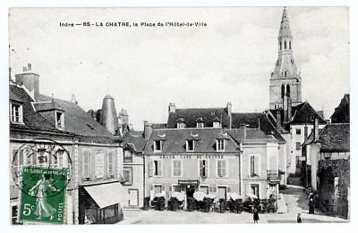 (S-70071) France - 36 - La Chatre Cpa Grand Cafe Du Centre - Pharmacie     M.t.i