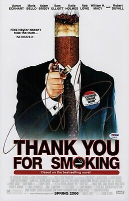 Aaron Eckhart Signed Thank You For Smoking 11X17 Movie Poster Psa Coa Ad48129
